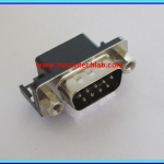 1x Male D-Sub RS232 Connector Right Angle DB 9 Pins