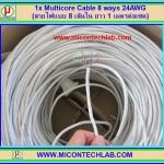 1x Multicore Cable 8 ways CAT-5 AWG24 for LAN Internet Network (สาย LAN แบบ 8 เส้นใน ยาว 1 เมตรต่อเซต)