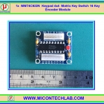 1x MM74C922N Keypad 4x4 Matrix Key Switch 16 Key Encoder Module