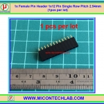 1x Female Pin Header 1x12 Pin Single Row Pitch 2.54mm (1pcs per lot)