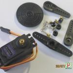 1x มอเตอร์ดีซีเซอร์โว MG996R พร้อมอุปกรณ์ (Hi-Torque Metal Gear Servo Motor MG996R)