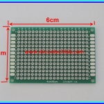 1x Prototype PCB Board 4x6 cm Through Hole Double Sides Green Color