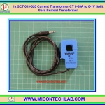 1x SCT-013-020 Current Transformer CT 0-20A to 0-1V Split Core Current Transformer