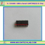 1x CH340G USB to Serial/ UART/RS232 CH340 IC Chip