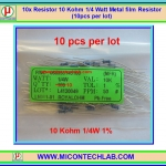 10x Resistor 10 Kohm 1/4 Watt 1% Metal film Resistor (10pcs per lot)