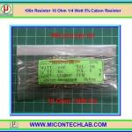 100x Resistor 10 Ohm 1/4 Watt 5% Cabon Resistor