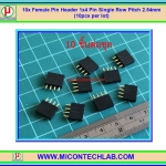 10x Female Pin Header 1x4 Pin Single Row Pitch 2.54mm (10pcs per lot)