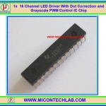 1x TLC5940NT 16 CHANNEL LED DRIVER WITH DOT CORRECTION AND GRAYSCALE PWM CONTROL