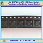 1x MCP41100 Digital Volume Potentiometer 100Kohm IC For Digital Volume Control MCP41100-I/SN