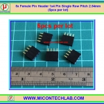 5x Female Pin Header 1x4 Pin Single Row Pitch 2.54mm (5pcs per lot)