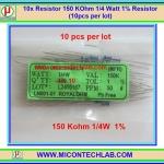 10x Resistor 150 KOhm 1/4 Watt 1% Resistor (10pcs per lot)