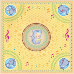 ผ้าพันคอลาย Zodiac (12นักษัตร)