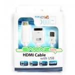 ราคาพิเศษ!! สาย MHL HD Adapter IOS 8 สำหรับต่อ มือถือ iPhone 4/4S/iPad 1/2 new iPad iPod ออก TV ภาพระดับ HD พร้อม USB เสียบชาร์จ