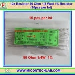 10x Resistor 50 Ohm 1/4 Watt 1% Resistor (10pcs per lot)
