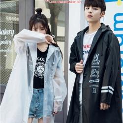 เสื้อกันฝนเทห์ๆ แฟชั่นสวย 2018 สีดำ ไซส์ M