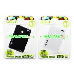 ราคาพิเศษ!! แบตสำรอง Golf Tiger 18 Dual-USB ความจุขนาด 7,800 mAh ขนาดเล็ก พกพาง่าย พร้อมไฟฉาย