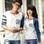 เสื้อคู่ เสื้อคู่รัก ชุดพรีเวดดิ้ง ชุดคู่รัก เสื้อคู่รักเกาหลี เสื้อผ้าแฟชั่น ผู้ชาย + ผู้หญิง เสื้อแขนยาวสีขาว ตัดด้วยแขนเสื้อลายฟ้าขาว ผลิตจากผ้าฝ้าย เนื้อนิ่ม หนา ใส่ สบาย งานจริงสวยๆมากค่ะ thumbnail 15