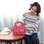 กระเป๋าเนื้อ kipling + สะพาย ใบเล็ก สีน้ำตาล thumbnail 6