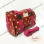 กระเป๋าทรงหมอน Chalita wu + สายสะพาย สีเลือดหมู ลายจุด thumbnail 2