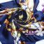 ผ้าพันคอผ้าซาติน ลายจักรรพรรดิสีน้ำเงิน thumbnail 1