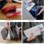 กระเป๋าจัดเก็บพาสปอร์ตสไตส์เกาหลีสีแดง thumbnail 4