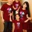เสื้อครอบครัว ชุดครอบครัว ผ้าเนื้อนิ่ม มาครบ พ่อ แม่ ลูกสาว ลูกชาย : Keep Calm & Be In Love thumbnail 2