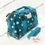 กระเป๋าทรงหมอน Chalita wu + สายสะพาย สีฟ้าอ่อน ลายจุด thumbnail 2