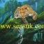 เสือในป่าธรรมชาติ(ขายแล้วสั่งวาดใหม่ได้) thumbnail 1