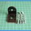 1x Mounting Bracket 25 mm DC Gear Motor Black Aluminum thumbnail 2