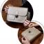 กระเป๋า สะพายข้าง ทรง vintage สีเงิน thumbnail 9