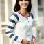 เสื้อคู่ เสื้อคู่รัก ชุดพรีเวดดิ้ง ชุดคู่รัก เสื้อคู่รักเกาหลี เสื้อผ้าแฟชั่น ผู้ชาย + ผู้หญิง เสื้อแขนยาวสีขาว ตัดด้วยแขนเสื้อลายฟ้าขาว ผลิตจากผ้าฝ้าย เนื้อนิ่ม หนา ใส่ สบาย งานจริงสวยๆมากค่ะ thumbnail 16