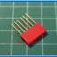 1x Red Color Female Pin Header 6 Pins Pitch 2.54mm (Long Pin) thumbnail 3