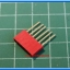 1x Red Color Female Pin Header 6 Pins Pitch 2.54mm (Long Pin) thumbnail 2