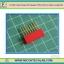 1x Red Color Female Pin Header 8 Pins Pitch 2.54mm (Long Pin) thumbnail 1