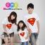 เสื้อครอบครัว ชุดครอบครัว เสื้อ พ่อ แม่ ลูก ลาย ซุปเปอร์แมน สีขาว ผลิตจากผ้าคอตตอน 100% thumbnail 1