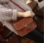 กระเป๋า สะพายข้าง ทรง vintage สีน้ำตาาลอ่อน thumbnail 2