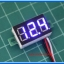 1x Mini Digital DC Voltmeter module 0-32 Vdc Blue LED 7's Segment 3 Wires thumbnail 3
