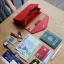 กระเป๋าจัดเก็บพาสปอร์ตสไตส์เกาหลีสีแดง thumbnail 1