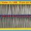 10x Resistor 4.7 Kohm 1/4 Watt 1% Metal film Resistor (10pcs per lot) thumbnail 5