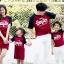 เสื้อครอบครัว ชุดครอบครัว พ่อ แม่ ลูก Super love set Collection thumbnail 2