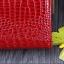 กระเป๋าสตางค์หนังแท้ 100% (หนังจระเข้ด้านนอก+หนังวัวด้านใน) สีทอง thumbnail 13
