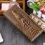 กระเป๋าสตางค์หนังแท้ 100% (หนังจระเข้ด้านนอก+หนังวัวด้านใน) สีทอง thumbnail 1