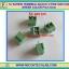 5x SCREW TERMINAL BLOCK 2 PINS Pitch 5.0mm 300V/10A GREEN COLOR thumbnail 1