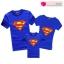 เสื้อครอบครัว ชุดครอบครัว เสื้อ พ่อ แม่ ลูก ลาย ซุปเปอร์แมน ผลิตจากผ้าคอตตอน 100% thumbnail 2