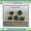 5x Terminal Block Connector 2 Pins Pitch 7.62 mm Barrier Type (Green Color) thumbnail 1