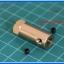 1x Brass Motor Shaft Coupling Coupler 6 mm (ข้อต่อแกนเพลา 6มม ยาว 30มม) thumbnail 2