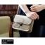 กระเป๋า สะพายข้าง ทรง vintage สีเงิน thumbnail 8