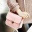 กระเป๋า สะพายข้าง ทรง vintage สีชมพู thumbnail 1