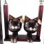 ตุ๊กตาไม้แมวคู่บนชิงช้า แบบ A thumbnail 2