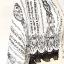 ผ้าพันคอ/ผ้าคลุมไหล่/ผ้าคลุมให้นม รุ่น Issey_Fleur Fantasia (Size L) ลายดอกไม้แฟนซีสีดำตัดกับผ้าผืนสีขาว ดอกไม้สีดำดูลึกลับน่าค้นหา ทำให้ดูมีอะไรมากขึ้น สวยแบบคลาสสิคนี่แหละที่เค้าเรียกว่าสวยจริงๆ มีดอกไม้เรียงกันเป็นเส้นตามแนวยาว ดูดีไปอีกแบบ เก๋มากๆ ผ้า thumbnail 3